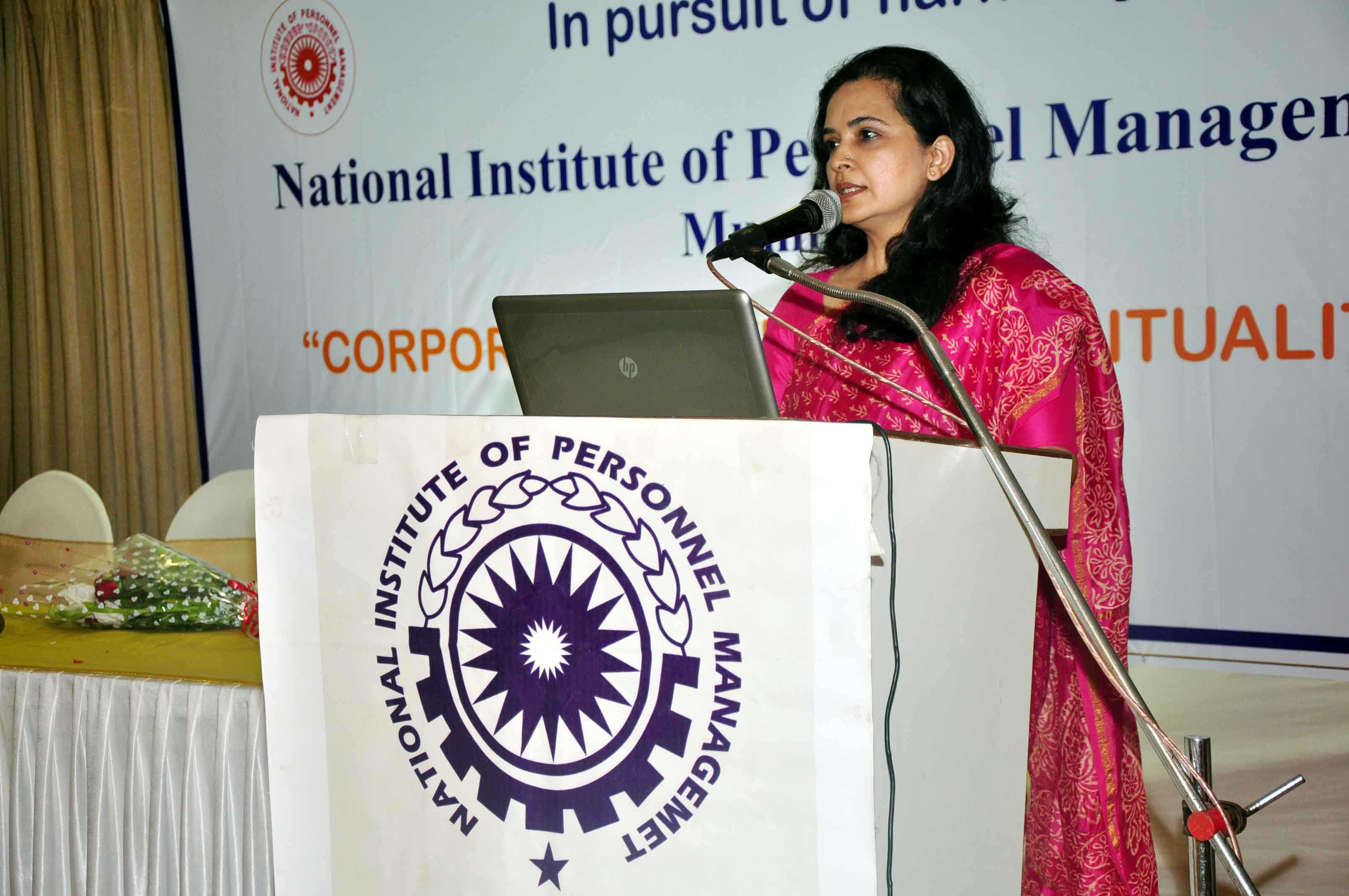 Distinguished speaker at NIPM Conference on Corporate Culture and Spirituality