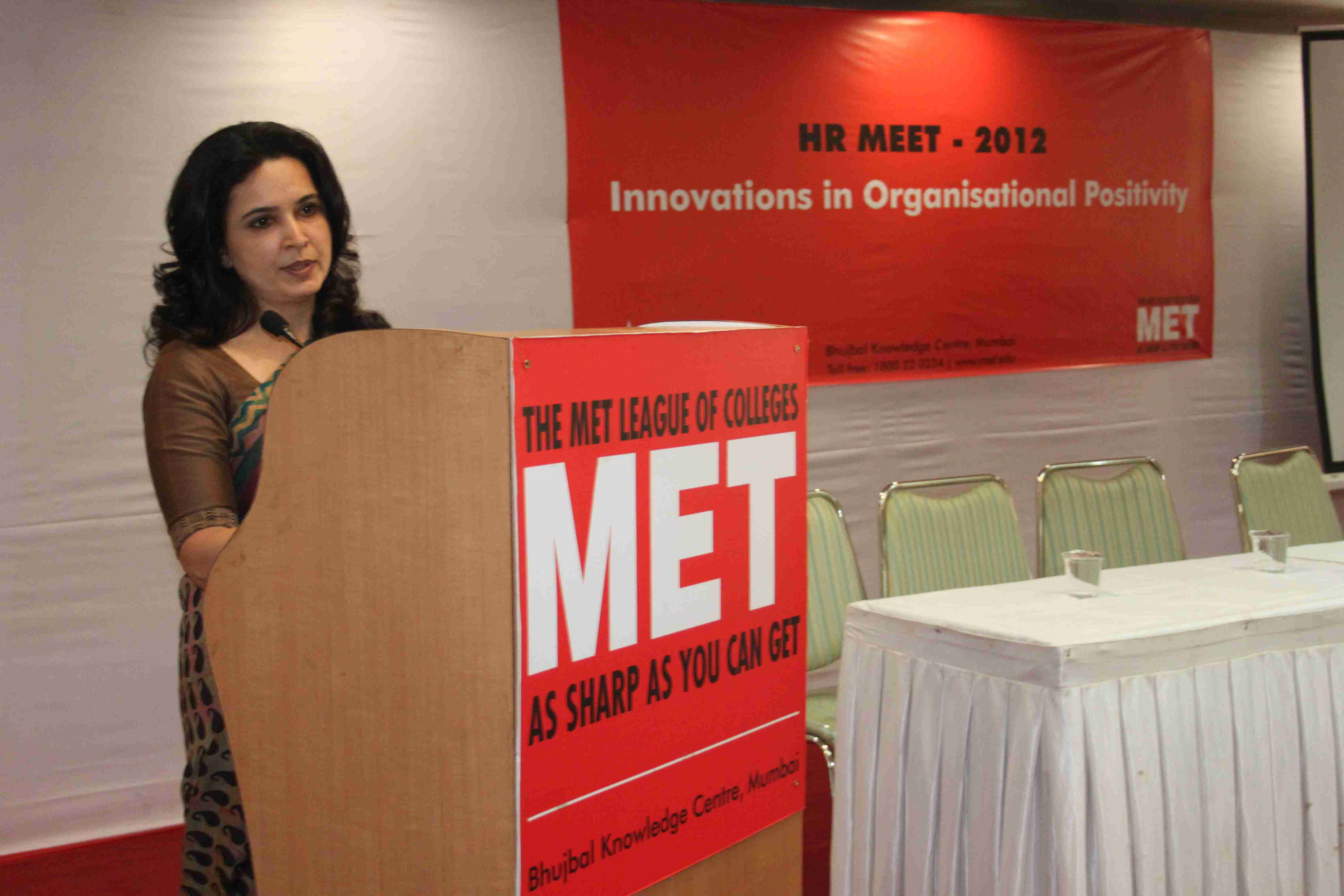 Chairperson for MET - SOMs HR Meet on 'Innovations in Organizational Positivity'
